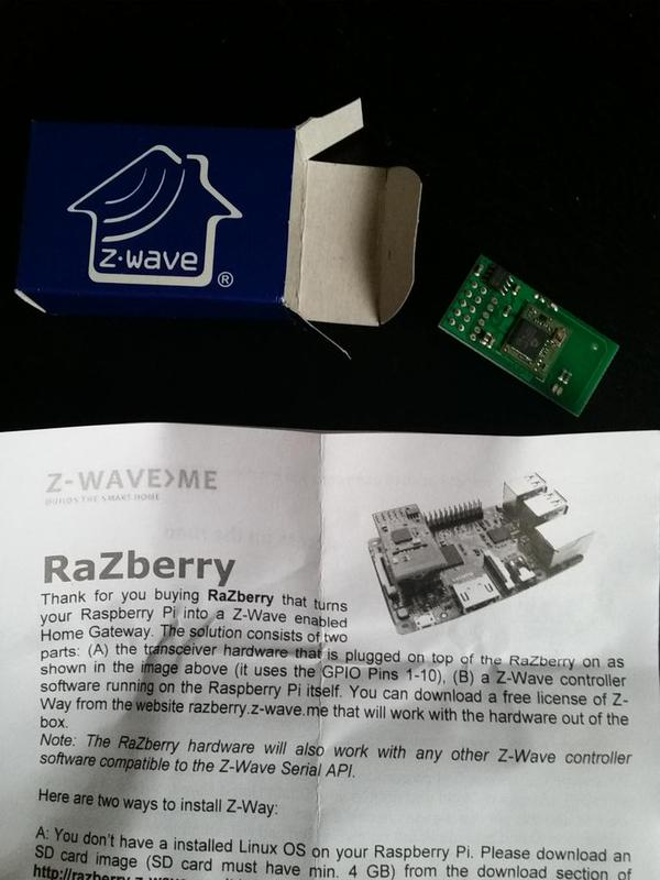 Z-Wave Home Automation with a Raspberry Pi