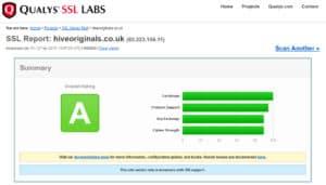 Hive Originals SSL Certificate Report image