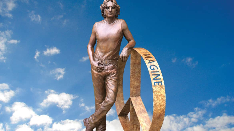 Laura Lian John Lennon Statue